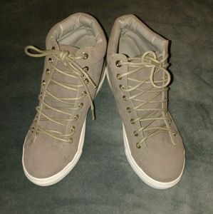 Shoes - Gray high top sneakers